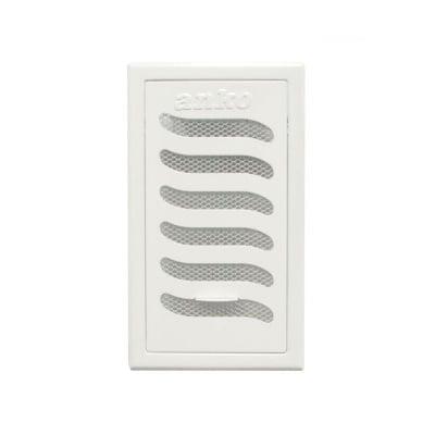 Вентилационна решетка плъзгаща 125 х 215 Бяла