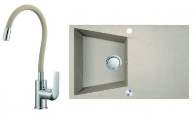 Комплект мивка и смесител GRENADA-SBGE511T LAVEO