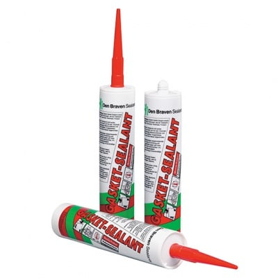 Силикон за гарнитури Gasket-Sealant Den Braven, 280 ml - червeн