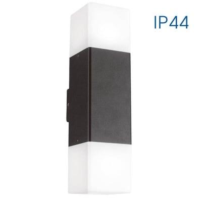 Влагозащитен двоен фасаден аплик  230V SAPORO/W 2 x E27