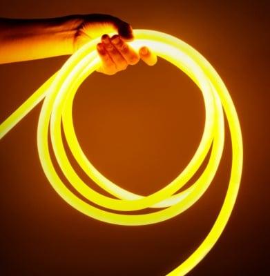 LED лента за външна  и вътрешна употреба 5 м - лимонено жълта светлина Lightex