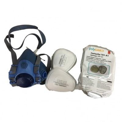 Респиратор  -  полумаска 7500Р А1 Р2 със сменяеми филтри
