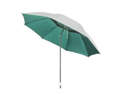 Плажен чадър с алуминиево покритие и чупещо се рамо WUB12 зелен ø 220 см
