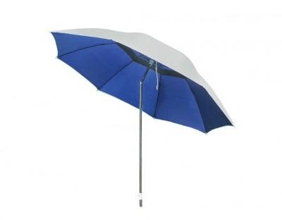 Плажен чадър с алуминиево покритие и чупещо се рамо WUB12 син ø 220 см