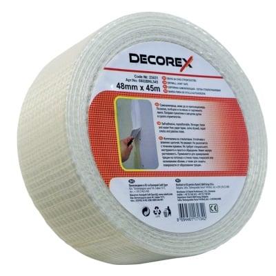 Стъклофибърна лента за гипсокартон 48 мм х 45 м Decorex