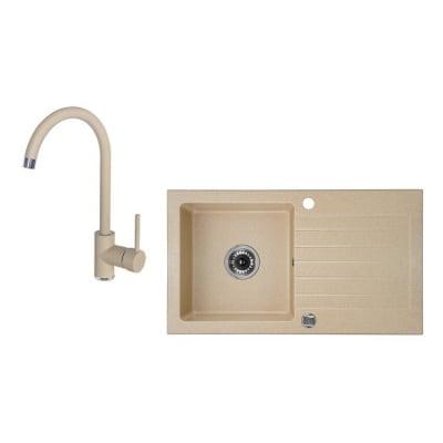Комплект мивка и смесител SBPA411T TRYNASTKA Laveo