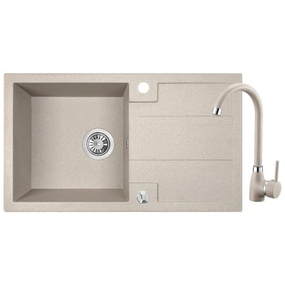 Комплект мивка и смесител BARBADOS-SBBB411Y