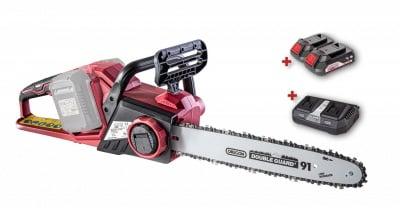 ПРОМО пакет RAIDER R20 SBCS20 - Акумулаторен верижен трион + 2 х 2 Аh батерии + двойно зарядно устройство