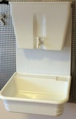 Навесен умивалник - мивка и резервоар за вила, двор и къмпинг Вилен