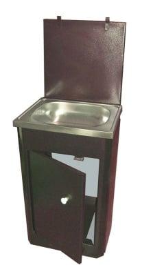 Умивалник с пластмасов резервоар и неръждаема мивка Вилен за вила, двор и къмпинг