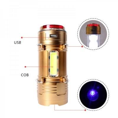 Двойна LED лампа за къмпинг + Фенер LL 108A