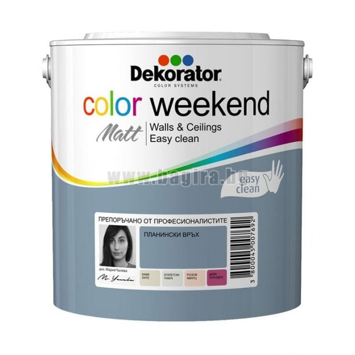 Матов латекс  2.5 л. Dekorator Color Weekend Mat Латекс Dekorator Color Weekend /планински връх/
