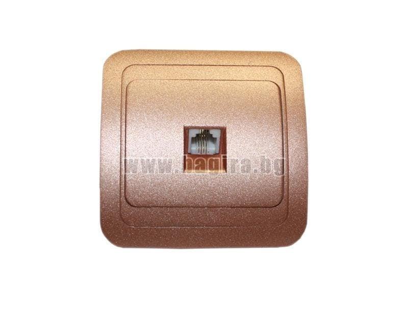 Розетка TF евро цвят шампанско - Lilium