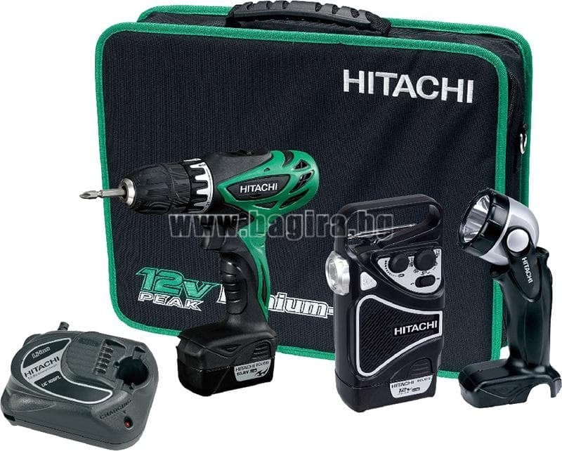 Акумулаторна бормашина/винтоверт KC10DHL-TL Hitachi