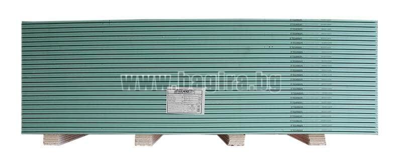 Гипсокартон тип H - влагоустойчив 12,5 х 1200 х 2000 мм. - ТЕХНОГИПС