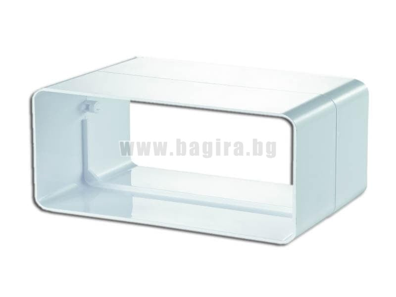 Конектор плосък Vents PVC