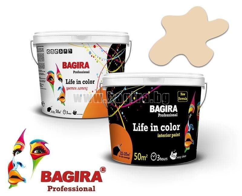 Латекс Bagira 5кг. Латекс Bagira Нежен меланж 5 кг.