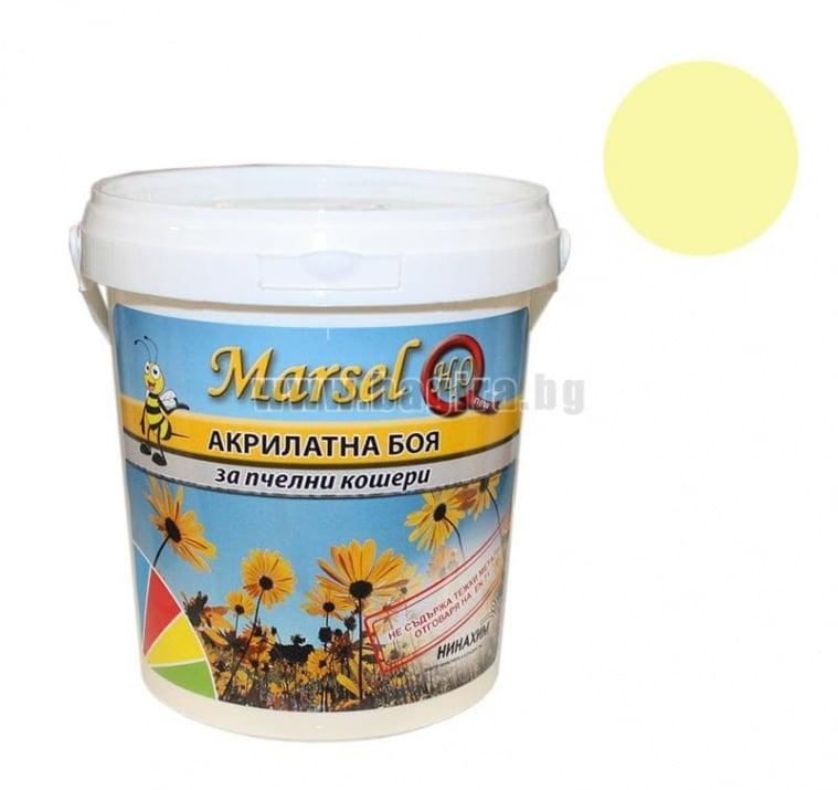 Акрилатна боя за пчелни кошери Marsel - бял Акрилатна боя за пчелни кошери Marsel - светло жълт