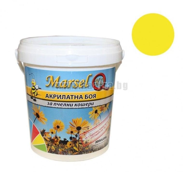 Акрилатна боя за пчелни кошери Marsel - бял Акрилатна боя за пчелни кошери Marsel - жълт