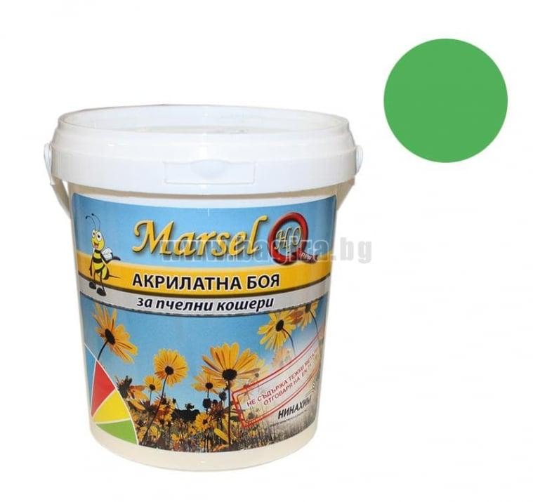 Акрилатна боя за пчелни кошери Marsel - бял Акрилатна боя за пчелни кошери Marsel - зелен