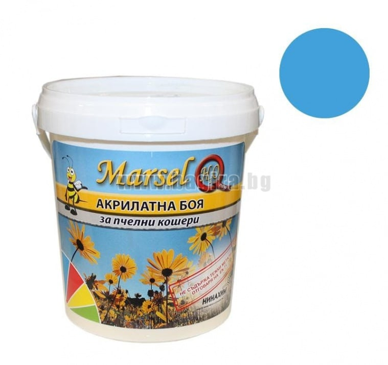 Акрилатна боя за пчелни кошери Marsel - бял Акрилатна боя за пчелни кошери Marsel - син