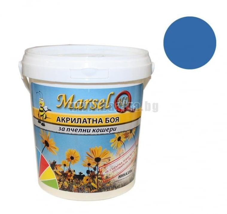 Акрилатна боя за пчелни кошери Marsel - бял Акрилатна боя за пчелни кошери Marsel - тъмно син