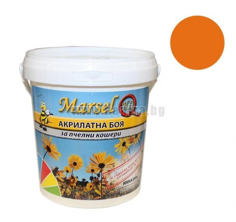 Акрилатна боя за пчелни кошери Marsel - бял Акрилатна боя за пчелни кошери Marsel - оранжев