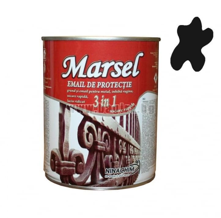 Алкиден емайллак 3в1 Marsel  Алкиден емайллак 3в1 Marsel - черен