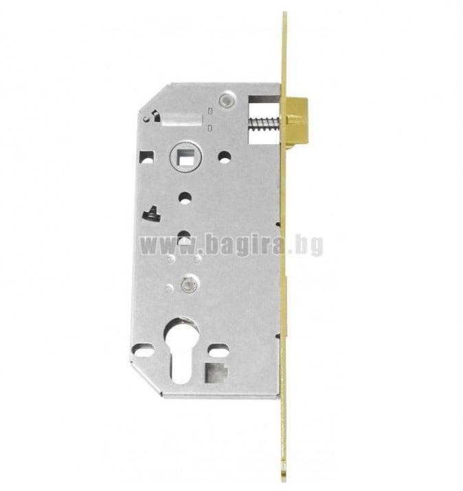 Вкопана брава за врати - секретна месинг 90 мм. Deka