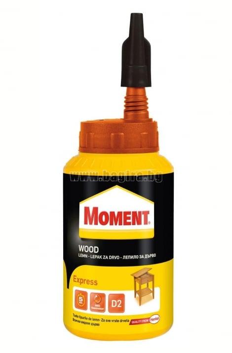 Бързосвързващо лепило за дърво Moment Wood Express Бързосвързващо  лепило за дърво 750 гр. Moment Wood Express