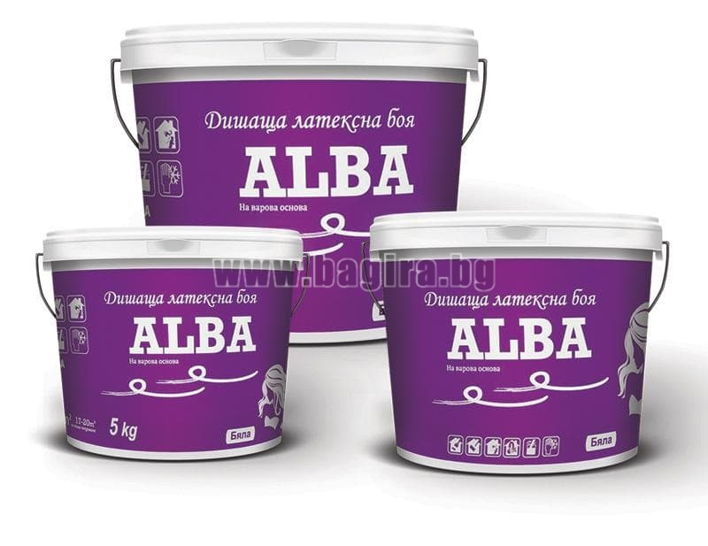 Бял латекс ALBA Бял латекс ALBA - 15 кг.