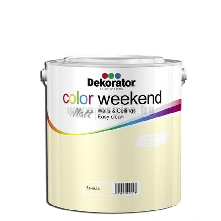 Матов латекс  2.5 л. Dekorator Color Weekend Mat Матов латекс Ванила 2.5 л. Dekorator Color Weekend Mat