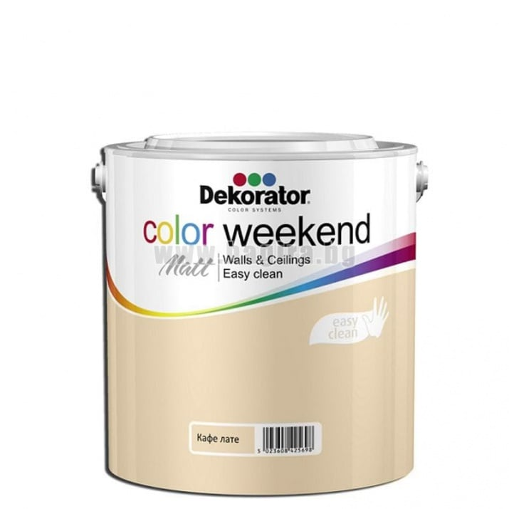 Матов латекс  2.5 л. Dekorator Color Weekend Mat Матов латекс Кафе лате 2.5 л. Dekorator Color Weekend Mat