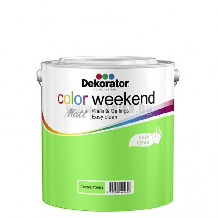 Матов латекс  2.5 л. Dekorator Color Weekend Mat Матов латекс Свежа трева 2.5 л. Dekorator Color Weekend Mat