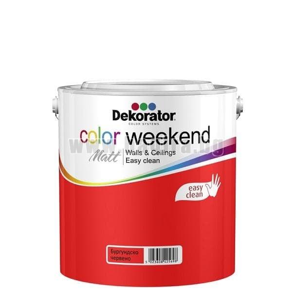 Матов латекс  2.5 л. Dekorator Color Weekend Mat Матов латекс Бургундско червено 2.5 л. Dekorator Color Weekend Mat