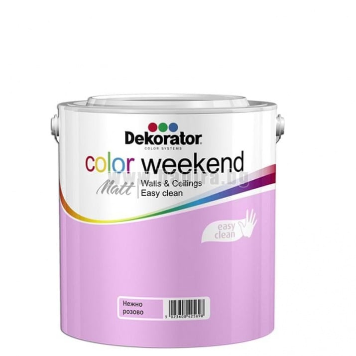 Матов латекс  2.5 л. Dekorator Color Weekend Mat Матов латекс Нежно розово 2.5 л. Dekorator Color Weekend Mat