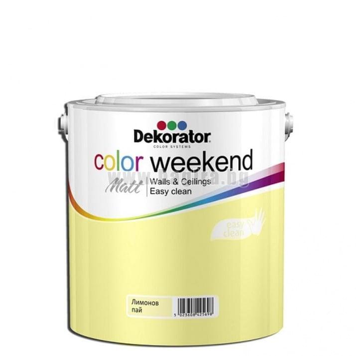 Матов латекс  2.5 л. Dekorator Color Weekend Mat Матов латекс Лимонов пай 2.5 л. Dekorator Color Weekend Mat