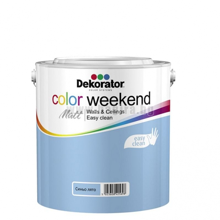 Матов латекс  2.5 л. Dekorator Color Weekend Mat Матов латекс Синьо лято 2.5 л. Dekorator Color Weekend Mat