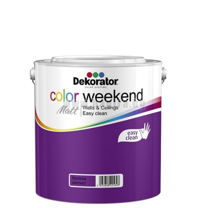 Матов латекс  2.5 л. Dekorator Color Weekend Mat Матов латекс Кралски аметист 2.5 л. Dekorator Color Weekend Mat