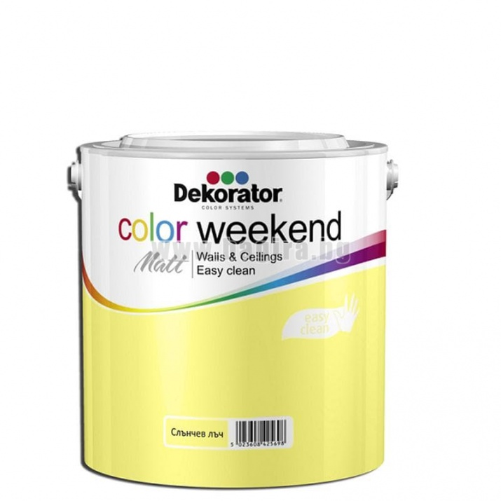 Матов латекс  2.5 л. Dekorator Color Weekend Mat Матов латекс Слънчев лъч 2.5 л. Dekorator Color Weekend Mat