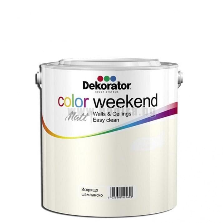 Матов латекс  2.5 л. Dekorator Color Weekend Mat Матов латекс Искрящо шампанско 2.5 л. Dekorator Color Weekend Mat