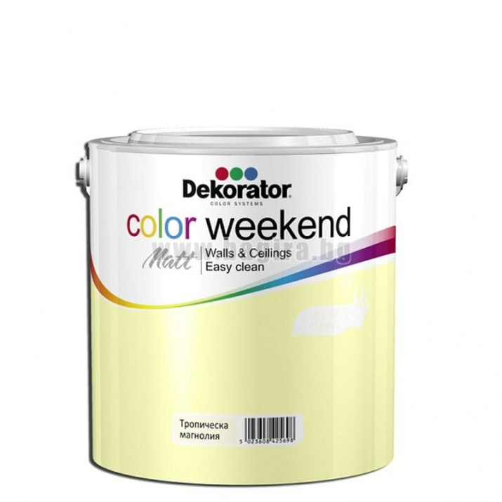 Матов латекс  2.5 л. Dekorator Color Weekend Mat Матов латекс Тропическа магнолия 2.5 л. Dekorator Color Weekend Mat