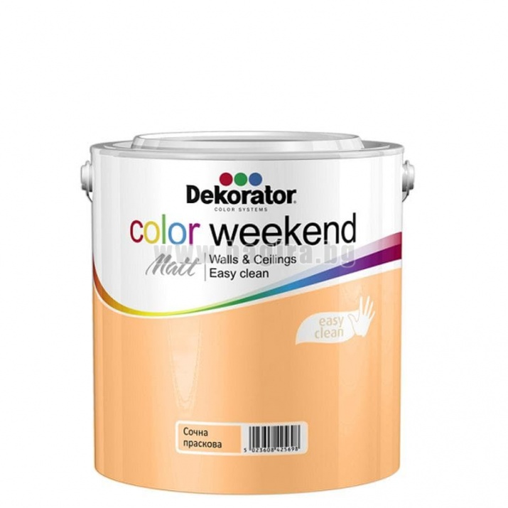 Матов латекс  2.5 л. Dekorator Color Weekend Mat Матов латекс Сочна праскова 2.5 л. Dekorator Color Weekend Mat