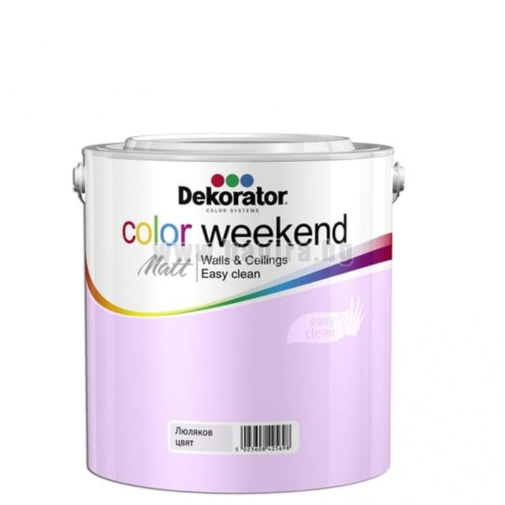 Матов латекс  2.5 л. Dekorator Color Weekend Mat Матов латекс Цвят люляк 2.5 л. Dekorator Color Weekend Mat