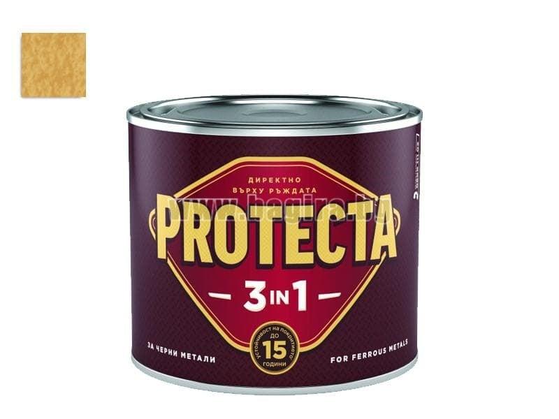 Боя Протекта 3 в 1  2.5 л. - Оргахим Боя Протекта 3 в 1 ефектно злато металик 2.5 л. - Оргахим