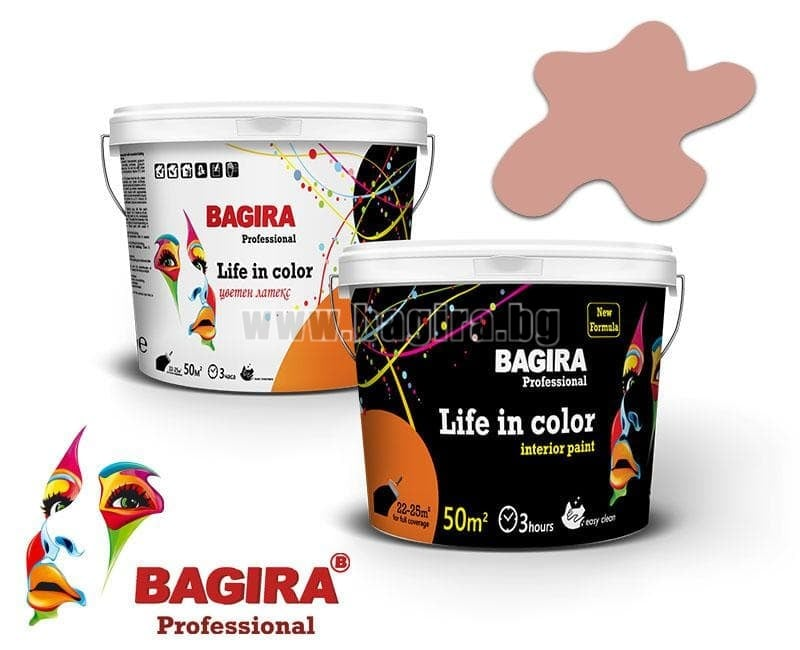 Латекс Bagira 5кг. Латекс Bagira Ябълков цвят 5 кг.