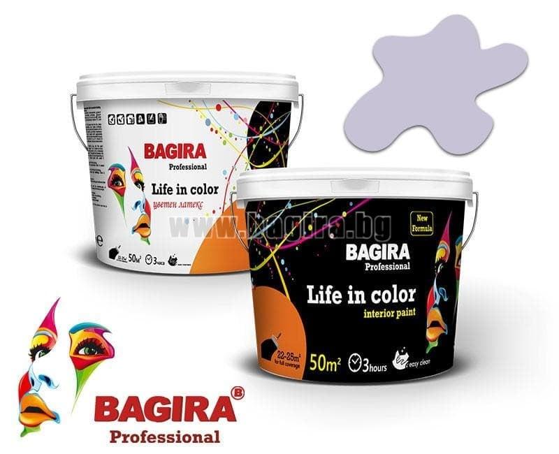 Латекс Bagira 5кг. Латекс Bagira Люляков цвят 5 кг.