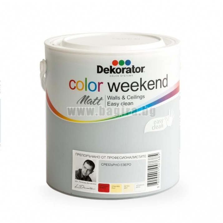 Матов латекс  2.5 л. Dekorator Color Weekend Mat Матов латекс  Сребърно езеро 2.5 л. Dekorator Color Weekend Mat