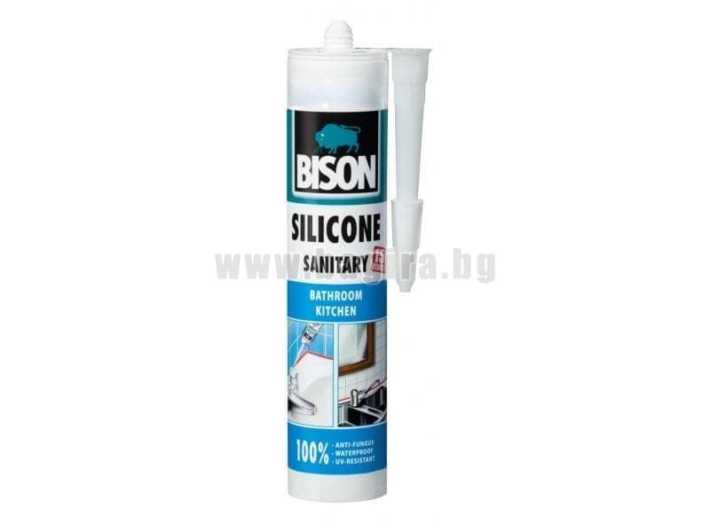 Санитарен силикон Bison прозрачен