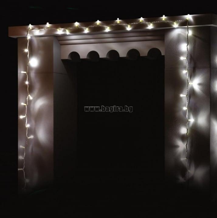 Коледни лампички тип гирлянд 100 бр. бели  - Enigma lights